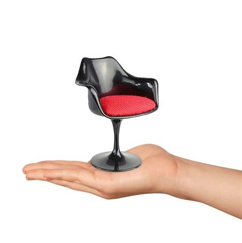 Mini Cadeira Tulipa com Braço Preta
