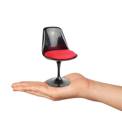 Mini Cadeira Tulipa Sem Braço Preta