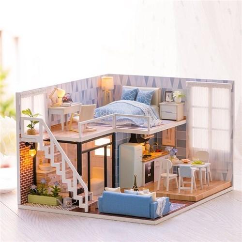 Mini Casa de Boneca / Apartamento Rosa