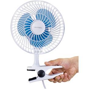 Mini Ventilador de Mesa VENTISOL 20CM 110V 8757 Azul/Branco - 110V