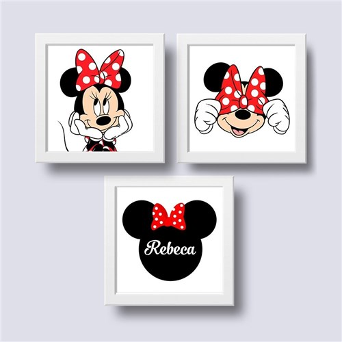 Tudo sobre 'Minnie Mouse - Kit Quadrinhos com Moldura (branca)'
