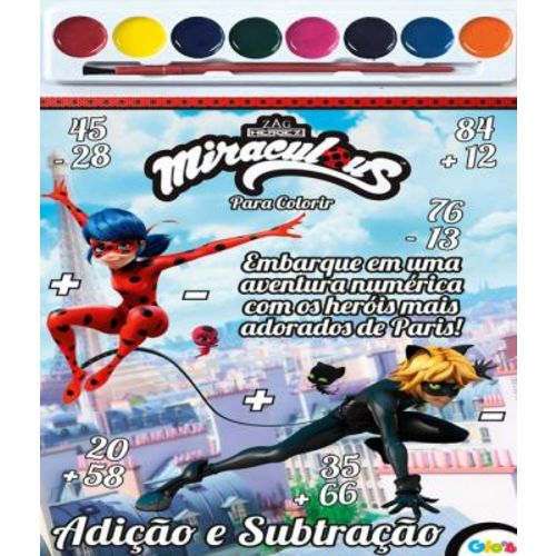 Miraculous - Livro para Colorir - Inclui Aquarela
