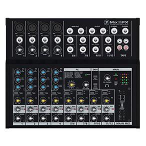 Mixer Mackie MIX12FX Compacto com 12 Canais e 12 Efeitos Integrados