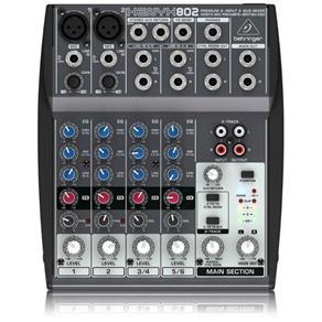 Mixer/Mesa de Som Xenyx 802 Behringer com 8 Entradas