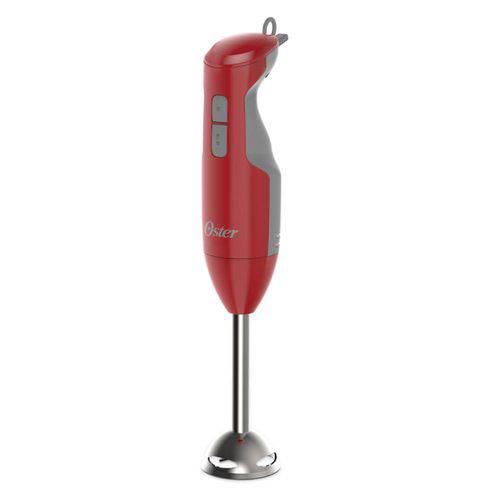 Mixer Oster Versatile Vermelho - 250W de Potência, 3 Velocidades + Função Turbo, Haste em Aço Inox,