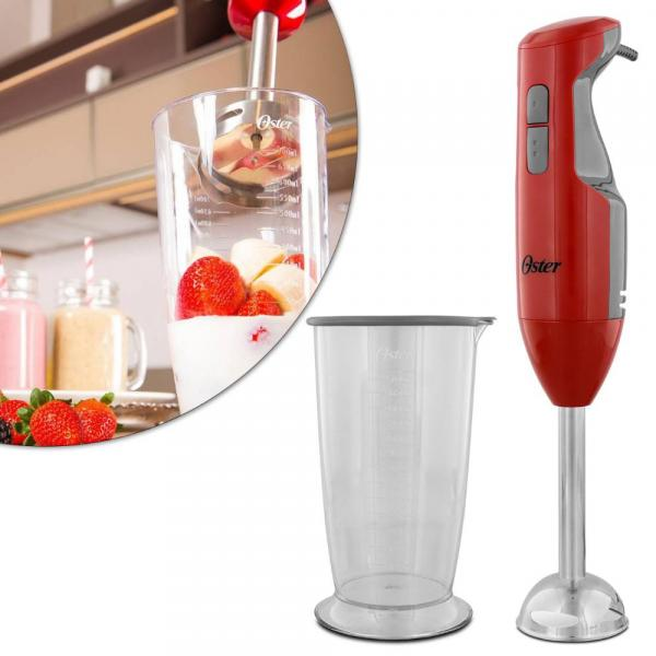 Mixer Oster Versatile Vermelho com Haste em Aço Inox