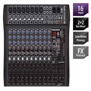 Mixer Waldman 16 Canais 8 Entradas Xlr 2 Auxiliares Alt 3 4 SLIM 1604FX