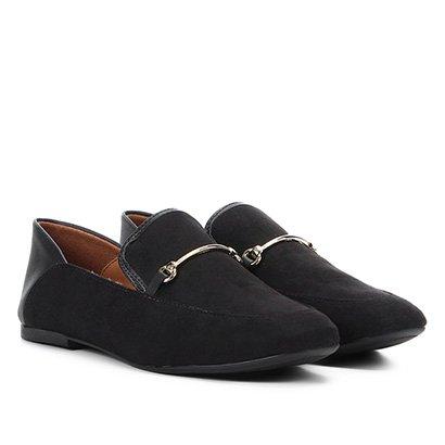 Mocassim Vizzano Detalhe Metalizado Loafer Feminino