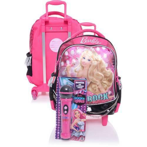 Mochila C Roda Média Barbie Rock 64343-08 - Sestini