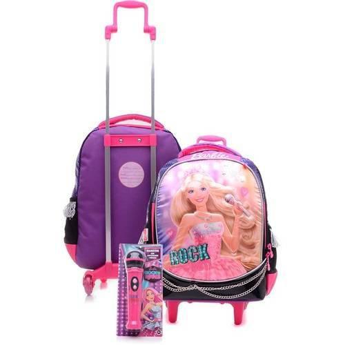 Mochila com Carrinho Barbie Rock'n Royals 64342-48 - Sestini