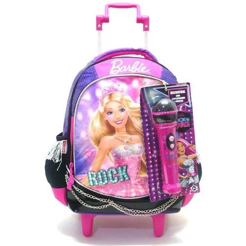 Mochila com Rodinhas Barbie Rock'n Royals - Sestini