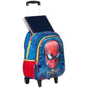 Mochila com Rodinhas Grande 3d Spiderman 18x Sestini