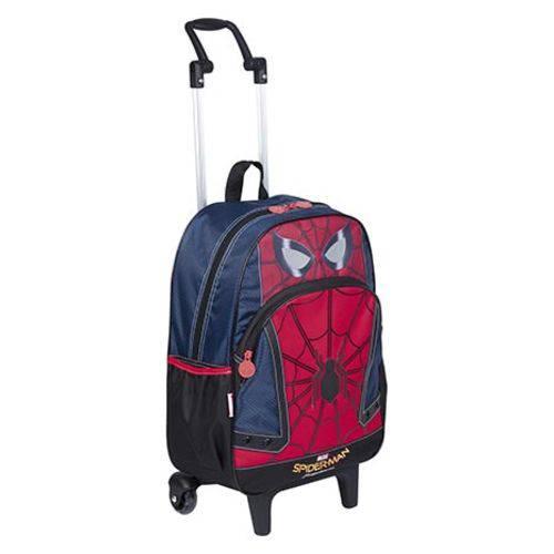Mochila com Rodinhas Grande Spiderman 18y Sestini