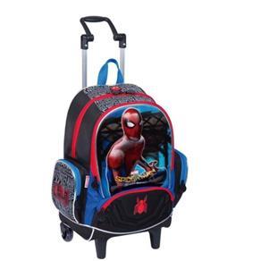 Mochila com Rodinhas Grande Spiderman 18z Sestini