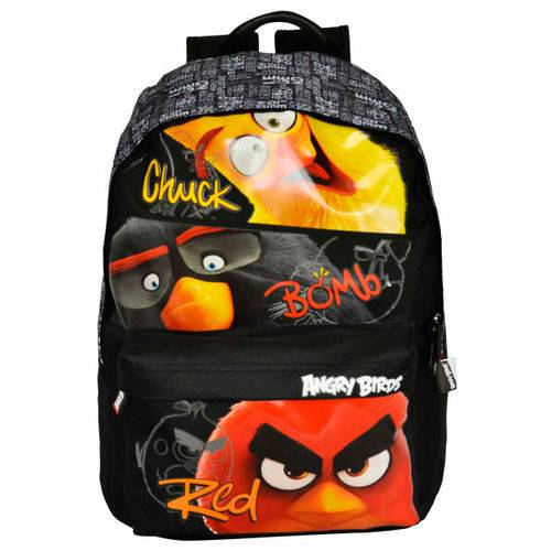 Tudo sobre 'Mochila Costas Angry Birds Santino Chuck Bomb Red'
