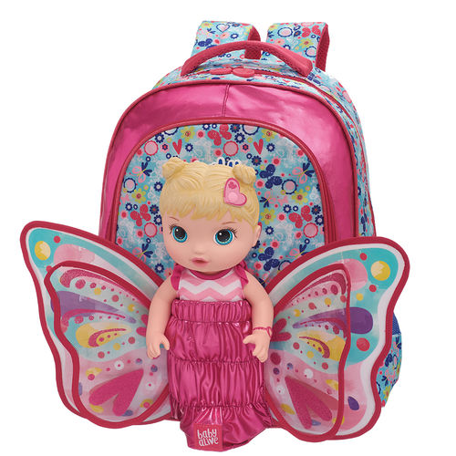 Mochila Costas M Baby Alive Butterfly
