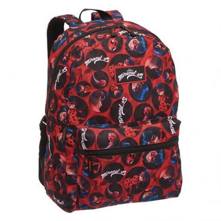 Mochila de Costas G (Pacific) - Miraculous Ladybug (vermelho e Preto) - Vermelho, Preto - G