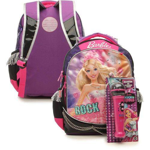Mochila de Costas Infantil Sestini G Rock N Royals Roxa Barbie