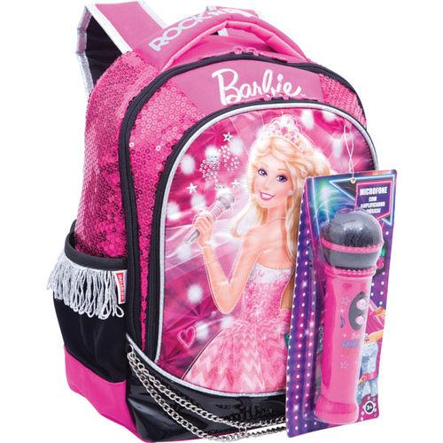 Mochila Escolar Barbie Rock N Royals Md 3bolso Sestini