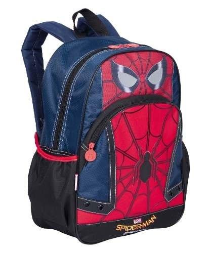 Mochila Grande Spiderman Homem Aranha 18Y Costas Sestini