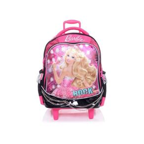 Mochila Infantil Barbie Rock'n Royals Microfone Rodinhas