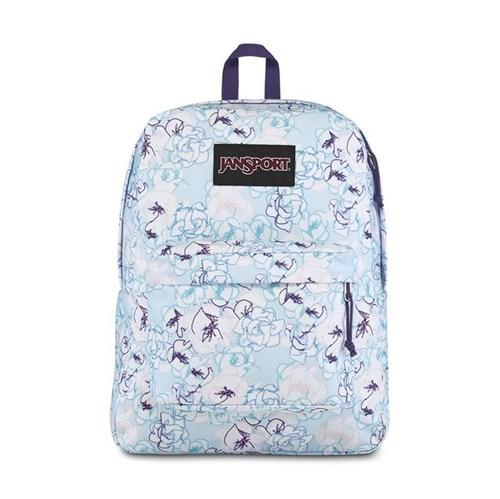 Mochila JanSport Black Label Superbreak Blue Sketch Floral-Único