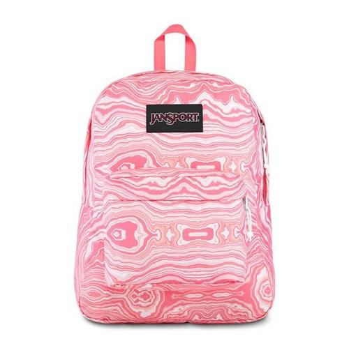 Mochila JanSport Black Label Superbreak Pink Geode Load-Único