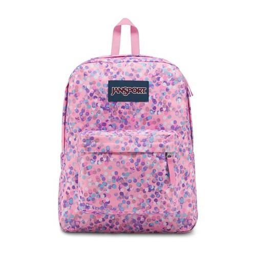 Mochila JanSport Superbreak Pink Sparkle Dot-Único