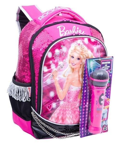 Mochila Média Barbie Rock N' Royals Rosa Original Sestini