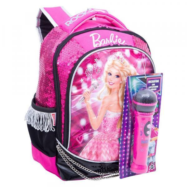 Mochila Média Barbie Rock N Royals Rosa - Sestini