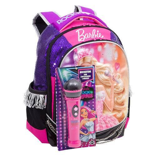 Mochila Média Barbie Rock N' Royals Roxa Original Sestini