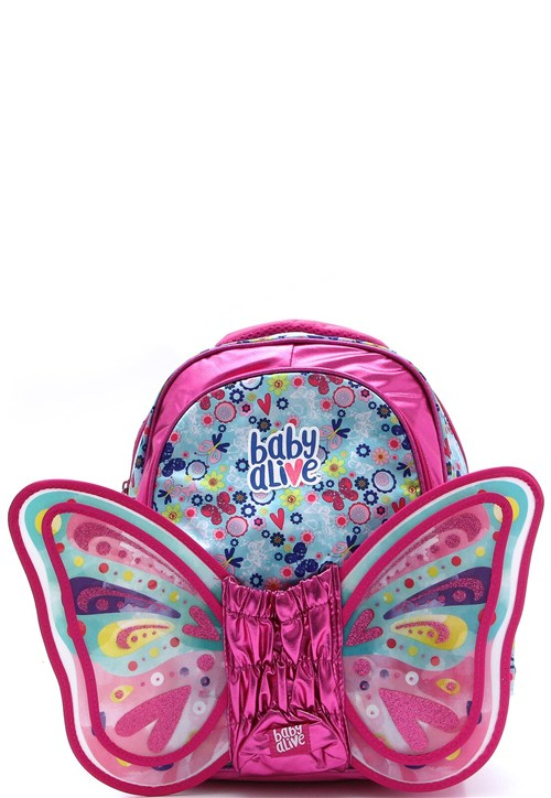 Mochila Pacific Baby Alive Butterfly Rosa