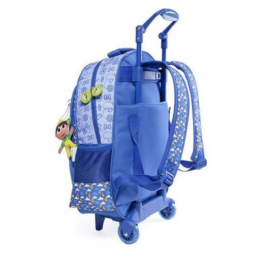 Tudo sobre 'Mochila Rodinha Infantil Pequerruchos Azul'
