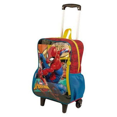 Mochila Rodinhas Grande Spiderman 19M - Sestini