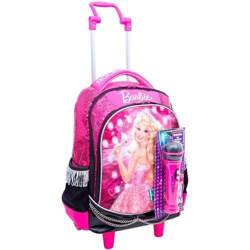 Mochilete Grande Barbie Rock In Royals Rosa 64342 - Sestini