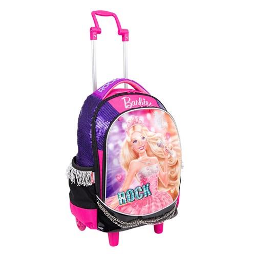 Mochilete Grande Barbie Rock N Royals Roxo Sestini
