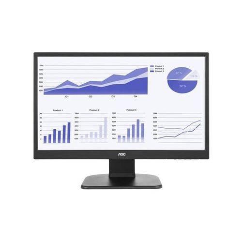 "Monitor 21,5"" Led Aoc - 250 Cd/m2 de Brilho - Altura e Rotacao - Vesa - Dvi - Hdmi - Full HD - E2270"