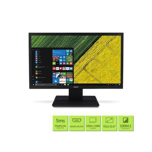 """Monitor 23,6"""" Led Acer - Vga - Vesa - Full HD - Hdmi - Dvi -"""