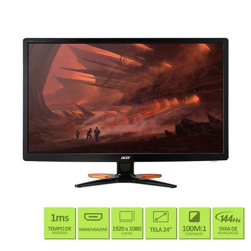 Monitor Gamer Acer 24'' Full HD IPS HDMI VGA - GN246HL
