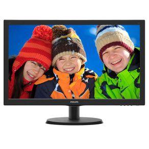 Tudo sobre 'Monitor LED 18.5P Philips 193V5LSB2 Preto'