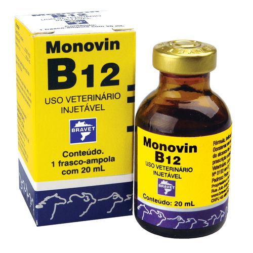 Monovin B12 Injetável Bravet 20 Ml