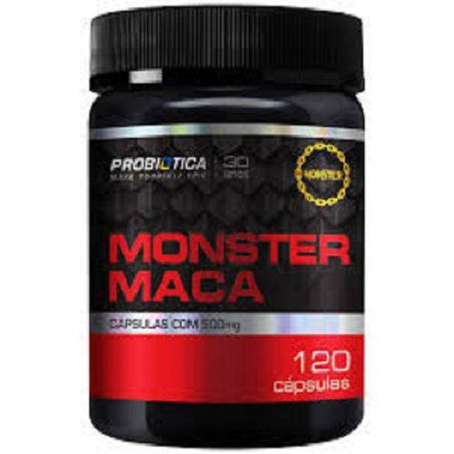 Tudo sobre 'Monster Maca 500mg 120 Capsulas Probiotica'