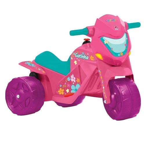 Moto Elétrica Infantil Bandeirante Gatinha Rosa 6V