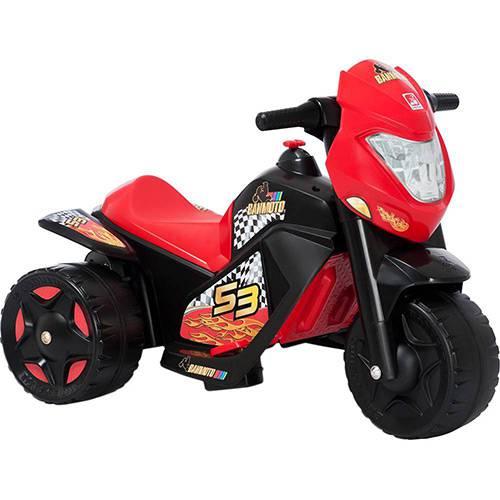 Moto Elétrica Infantil Ban Moto 6v Vermelho e Preto - Bandeirante