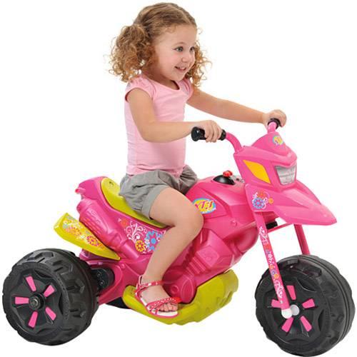 Moto Elétrica Infantil XT3 Fashion Rosa - Bandeirante