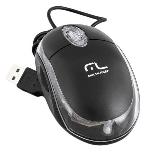 Mouse com Fio USB 800Dpi Classic Preto MO179 – Multilaser