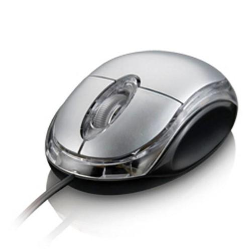 Mouse com Fio USB Classic Prata MO006 Multilaser