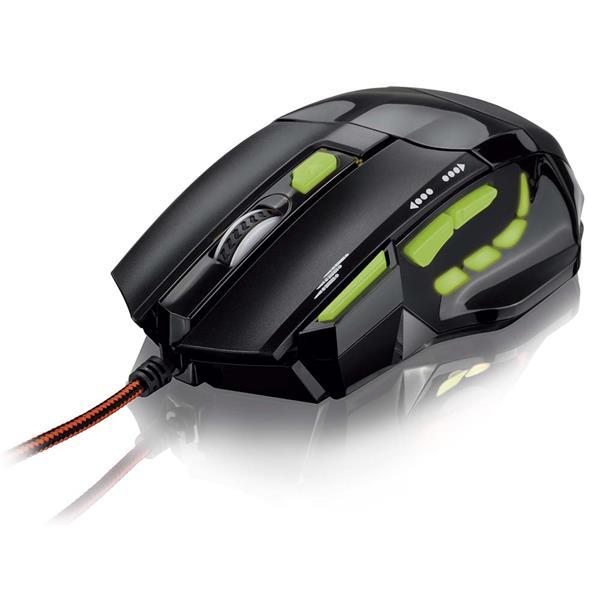Mouse Gamer Fire Button 7 Botões 2400 Dpi Multilaser MO208
