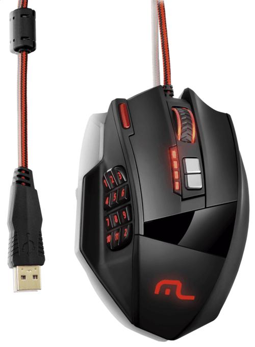 Tudo sobre 'Mouse Gamer Laser 18 Botões 4000dpi Preto USB Multilaser - M'