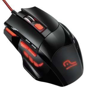 Mouse Gamer Multilaser MO236 XGamer Fire Button 2400DPI Vermelho e Preto
